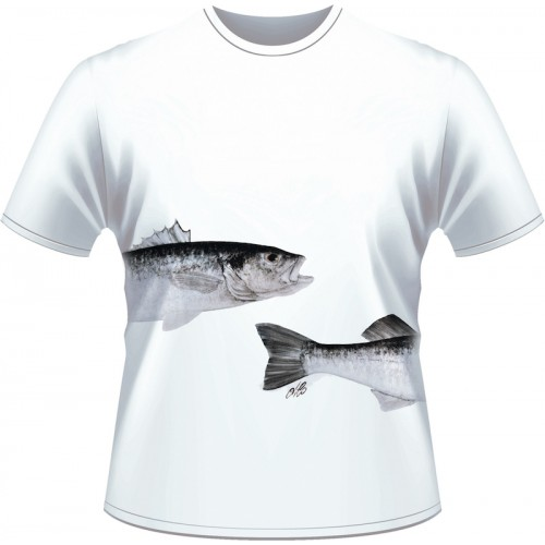 Ultimate Fishing T Shirt Bar Blanc