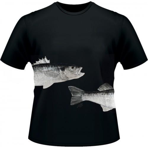 Ultimate Fishing T Shirt Bar Noir