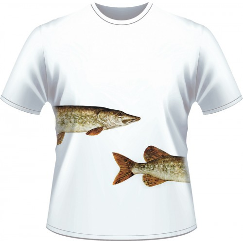 Ultimate Fishing T Shirt Brochet Blanc