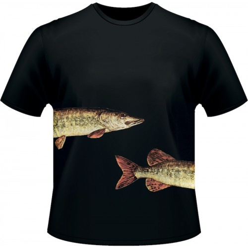 Ultimate Fishing T Shirt Brochet Noir