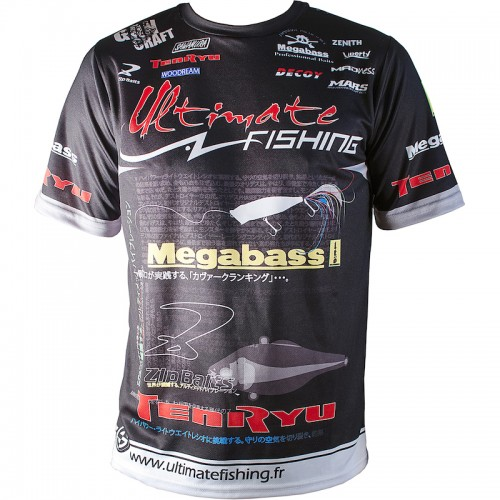 Ultimate Fishing T Shirt Competition Noir Front