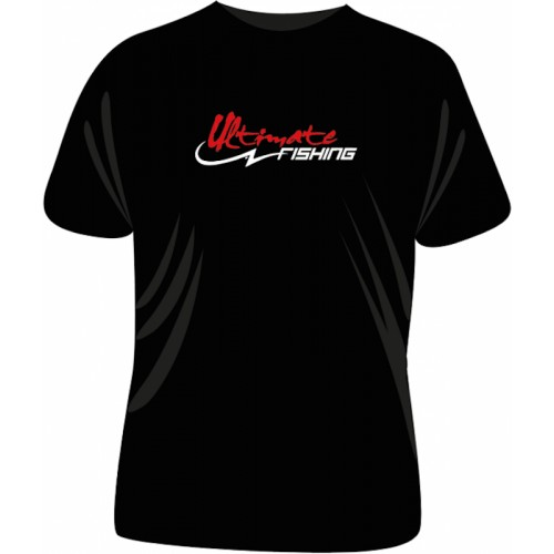 Ultimate Fishing T Shirt Black