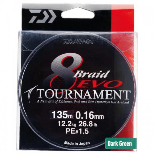 Daiwa Tournament 8 Braid EVO Tresse Multicolore - 300M