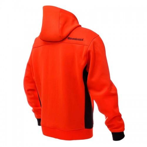 Megabass Veste Hybrid Hoody Red Black