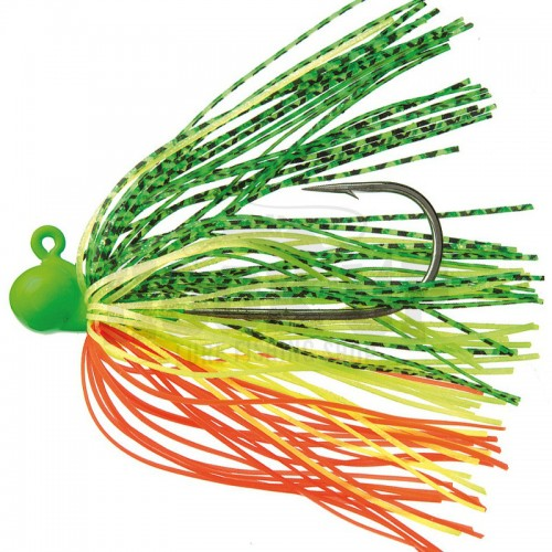 Daiwa Prorex Swimming Rubber Jig 14g Green Yellow Orange