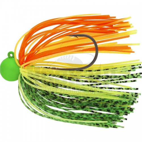 Daiwa Tournament Rubber Jig SAQ SAS rh 10g Green - Yellow - Orange