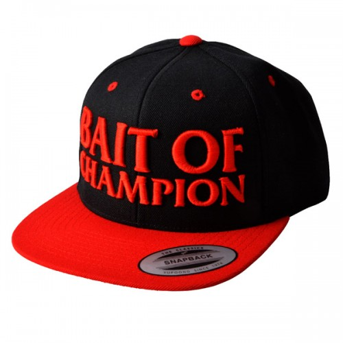 Megabass Casquette Bait Of Champion Black/Red