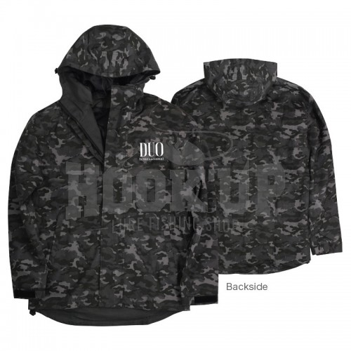 Duo Windbreaker Jacket Grey Camo