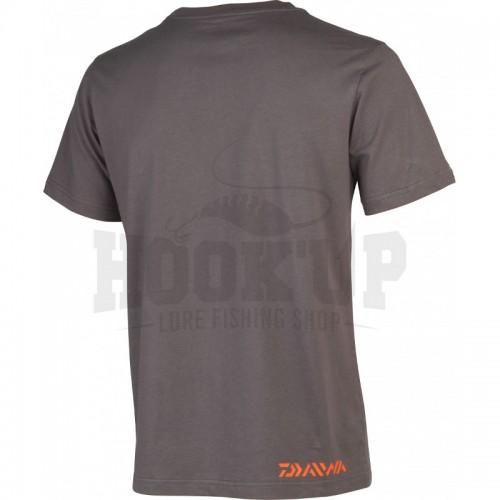 Daiwa T Shirt Gris Orange