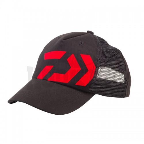 Daiwa Casquette Trucker Noire Logo Rouge