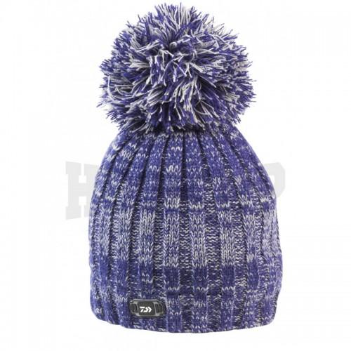 Daiwa Bonnet Gris Bleu a Pompon