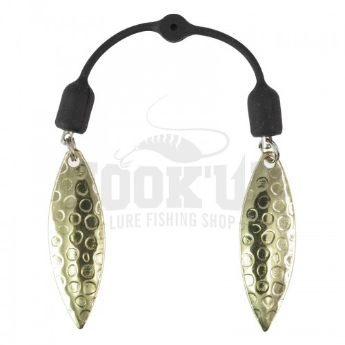 Scratch Tackle Twin Blade Hammered Gold