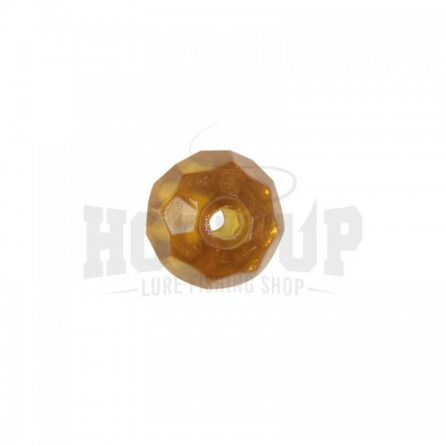 Scratch Tackle Amber Glass Bead
