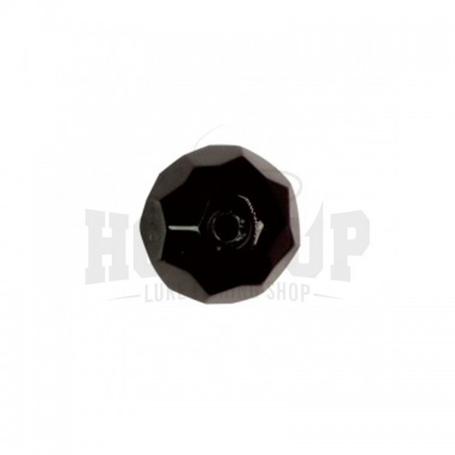 Scratch Tackle Black Glass Bead