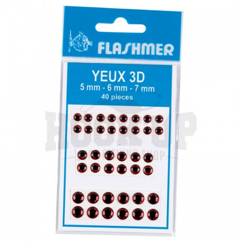 Flashmer Yeux 3D Rouge