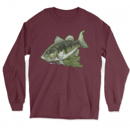 Hook'Up x MR Bass Mania T Shirt Manches Longues Maroon