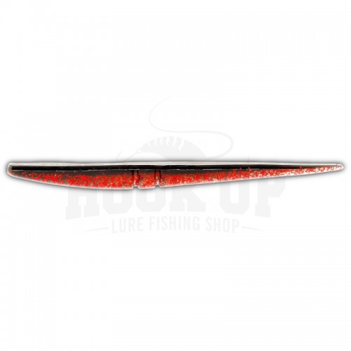 "Lunker City Slug Go 6"" 113 BLACK RED FLASH"