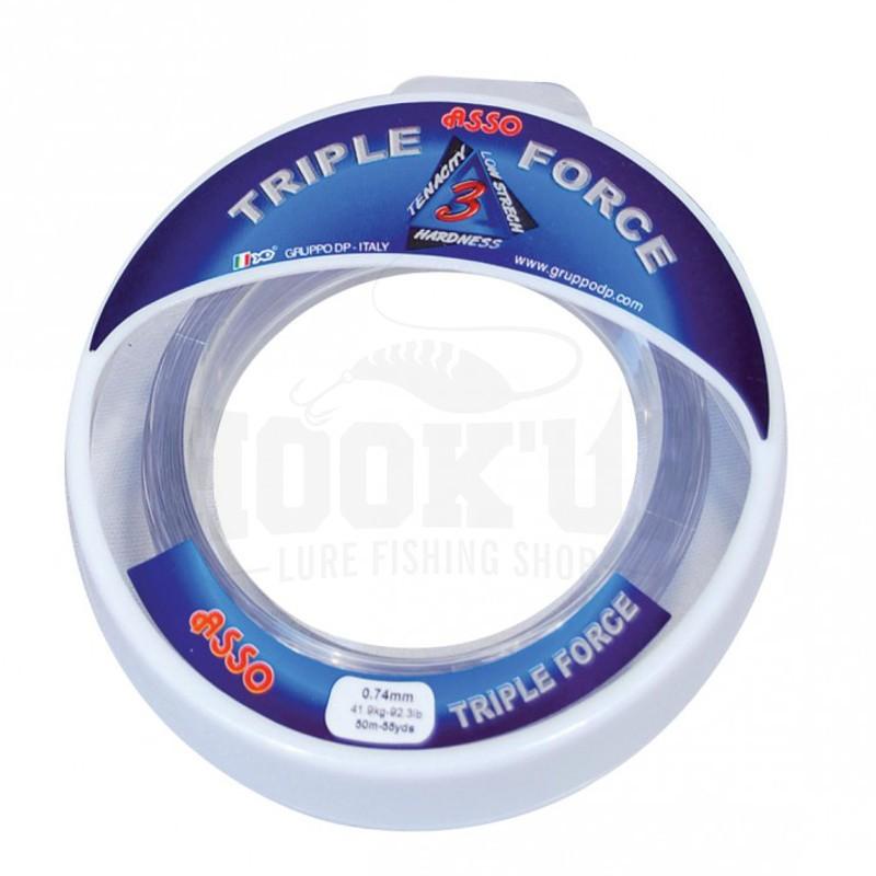 Asso Nylon Triple Force Gris 50M