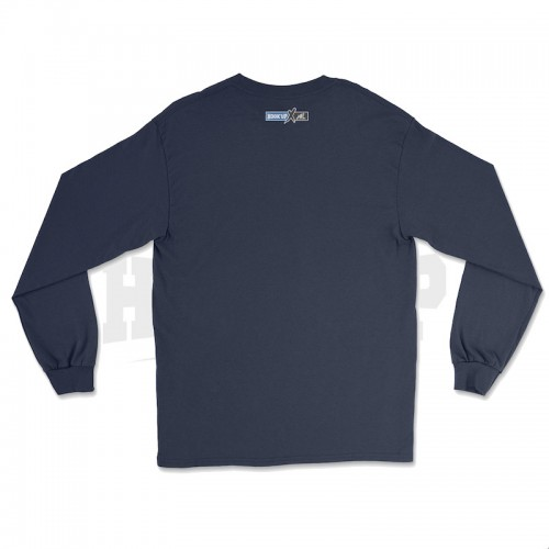 Hook'Up x MR Pike's Baits T Shirt Manches Longues Navy (Dos)
