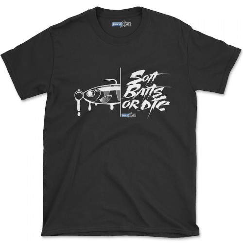 Hook'Up x MR Soft Baits or Die T Shirt Black