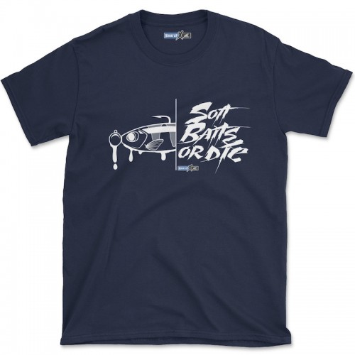 Hook'Up x MR Soft Baits or Die T Shirt Navy