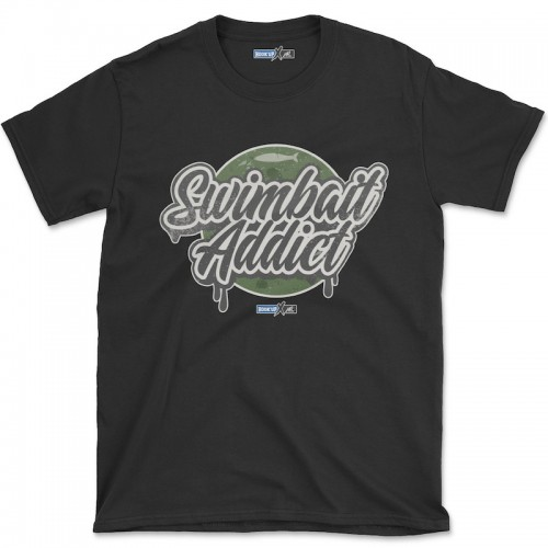 Hook'Up x MR Swimbait Addict T Shirt Black