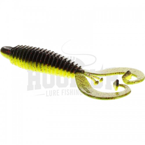 Westin RingCraw Curltail 9cm Black Chartreuse