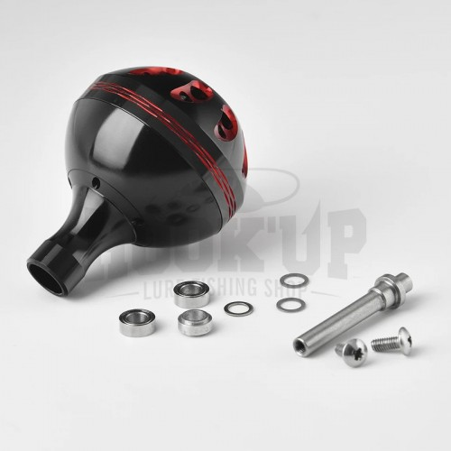Gomexus Black and Red Power Knob for Shimano and Daiwa