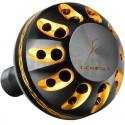 Gomexus Black and Gold Power Knob for Shimano and Daiwa