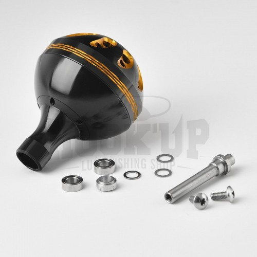 Gomexus Black and Gold Power Knob for Shimano and Daiwa