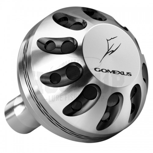 Gomexus Silver and Black Power Knob for Shimano and Daiwa