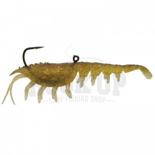"Hyperlastics Nat Shrimp 4"" MUDDY GOLD"