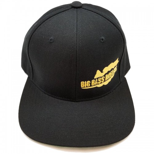 Big Bass Dreams Logo Classic Snapback Black Gold