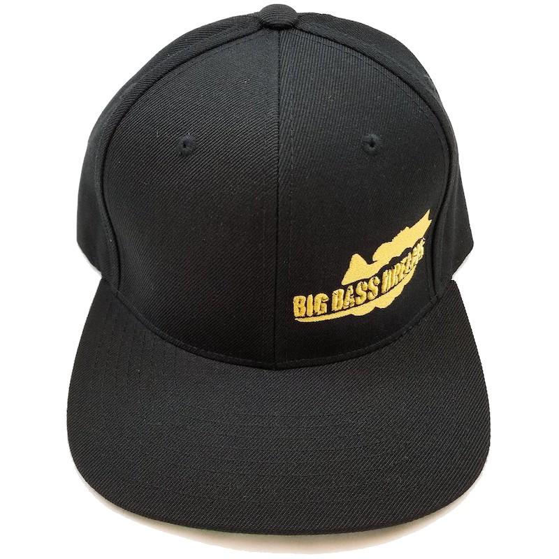 Big Bass Dreams Logo Classic Snapback Black Gold