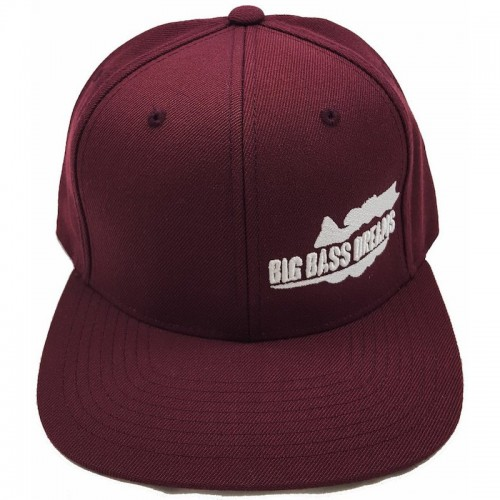 Big Bass Dreams Logo Classic Snapback Maroon White
