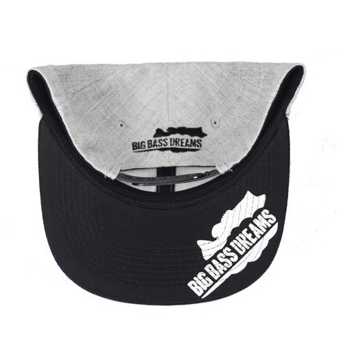 Big Bass Dreams Signature Series Snapback Grey Black
