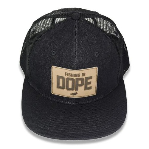 "Big Bass Dreams Signature Series ""Fishing is DOPE"" Snapback Denim Trucker"