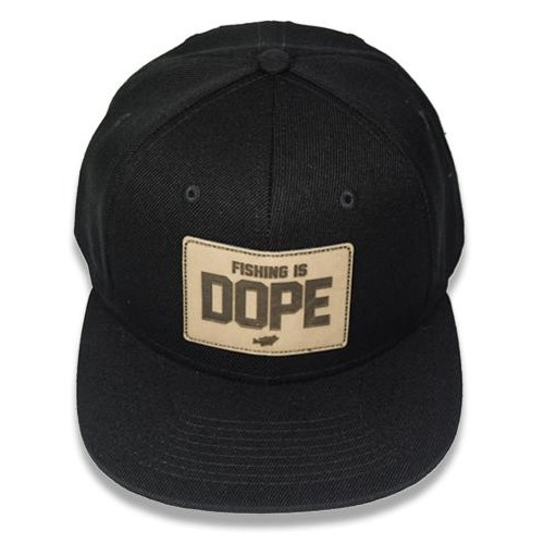 "Big Bass Dreams Signature Series ""Fishing is DOPE"" Snapback Black"