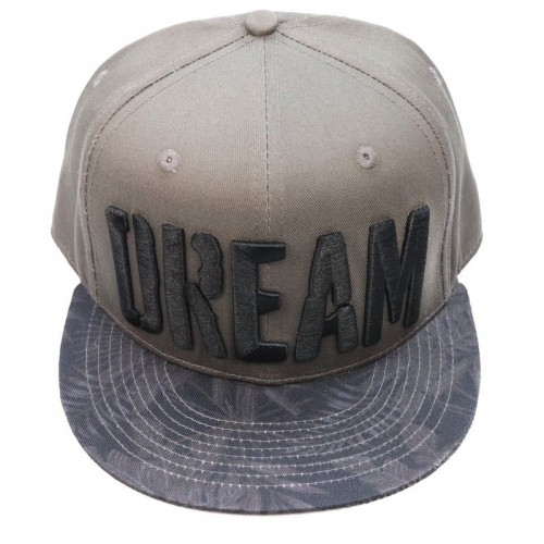 Big Bass Dreams Custom Snapback  Hat Brown Floral