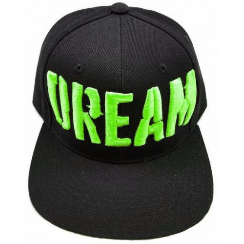 Big Bass Dreams Custom Snapback  Hat Monster Green
