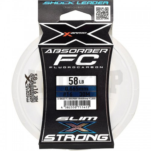 YGK XBraid FC Absorber Slim and Strong