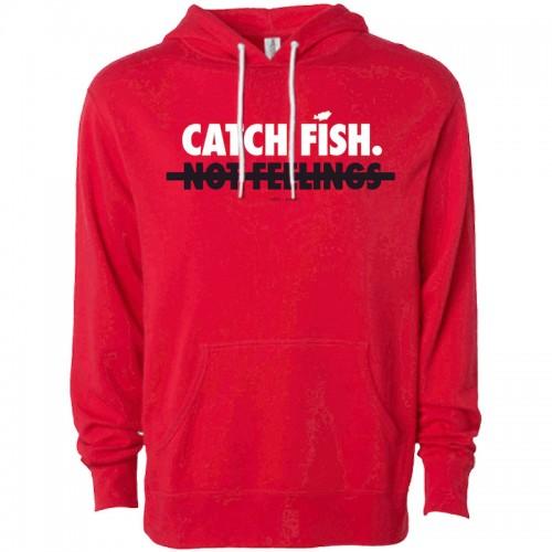 "Big Bass Dreams Sweat ""Catch Fish Not Feelings"" Rouge"