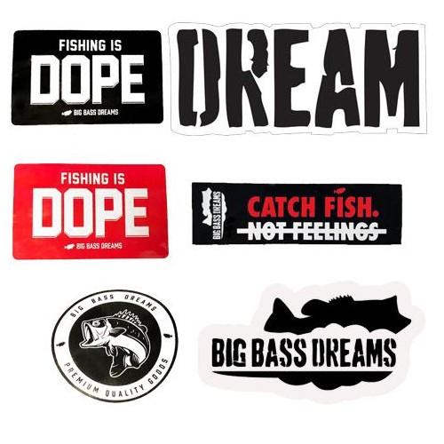 Big Bass Dreams Autcollants Pack