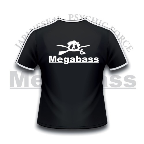 Megabass T Shirt Skull Black & White