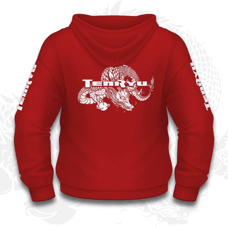 Tenryu Sweat Capuche Rouge